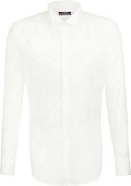 Bügelfreies Popeline Smokinghemd in Regular mit Kläppchenkragen
