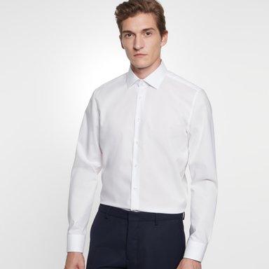 Bügelfreies Fil a fil Business Hemd in X-Slim mit Kentkragen