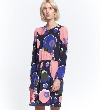Midi Kleid aus Cupromischung
