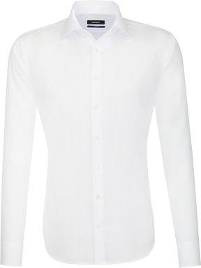 Bügelfreies Popeline Business Hemd in Shaped mit Kentkragen und extra langem Arm