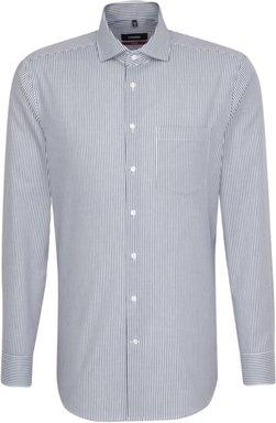 Bügelleichtes Twill Business Hemd in Regular mit Kentkragen