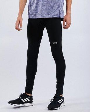 Gore Running Wear R3 Partial Gore® Windstopper® Tights - Herren black Laufbekleidung