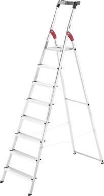 Hailo Stehleiter 'L60 StandardLine' 8 Stufen, silbern