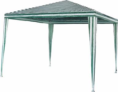 Pavillon grün-weiß 300 x 300 cm