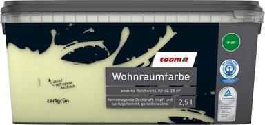toom Wohnraumfarbe 'Zartgrün' 2,5 l matt