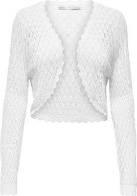ONLY Struktur Strickbolero Damen White
