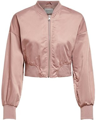 ONLY Cropped Bomber Jacke Damen Pink