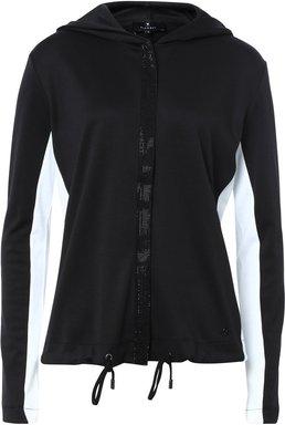Kapuzen-Jacke im Colour-Blocking-Design schwarz