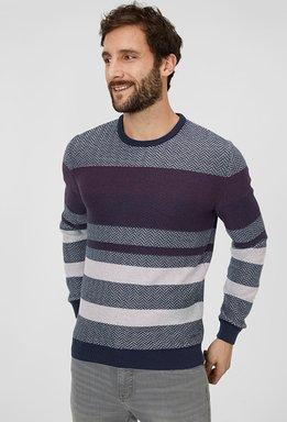 C&A Pullover-gestreift, Blau