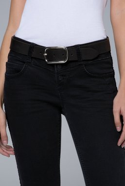 Gürtel aus Rauleder Farbe : black