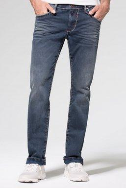 Jeans NI:CO mit Vintage-Waschung und breiten Nähten Farbe : old blue used , Weite : 29 , Länge: 32