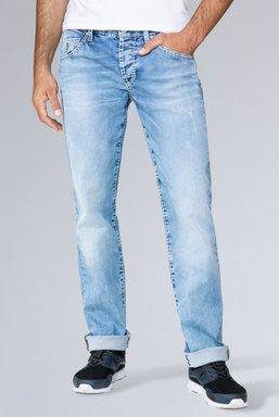 Jeans RO:BI mit Used-Optik und Knopfverschluss Farbe : light blue used , Weite : 30 , Länge: 34