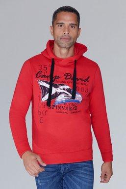 Kapuzensweater mit Sailing Print Farbe : speed red