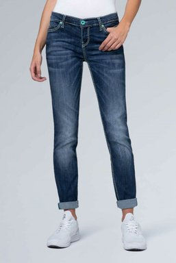 Slim Fit Stretch-Denim HE:DI Farbe : dark stone used , Weite : 26 , Länge: 34