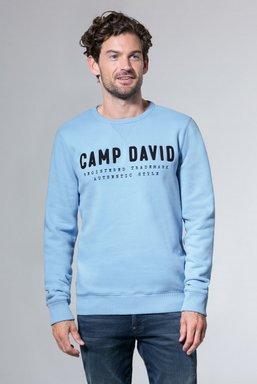 Sweatshirt mit Logo-Stickerei Farbe : light blue