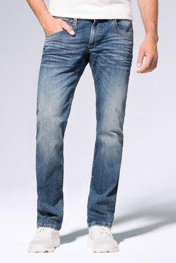 Used-Optik und leichtem Boot Cut Jeans NI:CO Farbe : medium blue used , Weite : 30 , Länge: 34