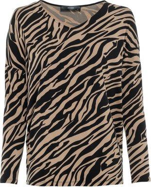Oversize-Shirt mit Zebramuster