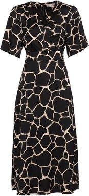 Kimonokleid mit Giraffenprint