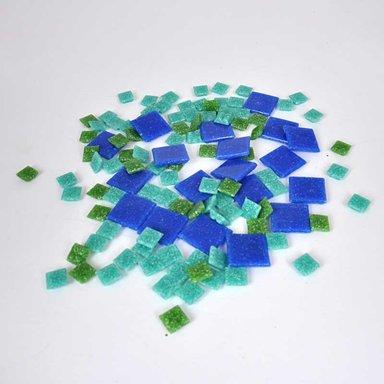 Rico Design Glas-Mosaiksteine 10x10mm 200g ca. 72 Stück nußbraun