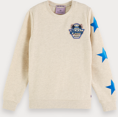 Scotch & Soda Meliertes Artwork-Sweatshirt