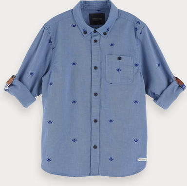 Scotch & Soda Oxford-Shirt mit Print | Regular Fit