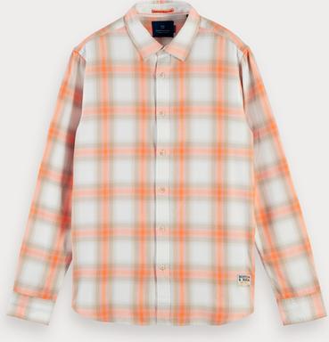 Scotch & Soda Shirt mit schattiertem Karomuster   Regular Fit