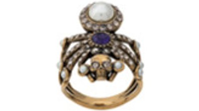 anel aranha aplicação  dourado