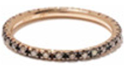 ileana makri anel ouro rosé 18k diamante  pink