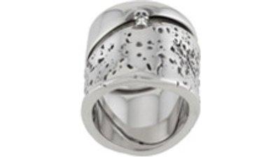 anel detalhe caveira  prateado