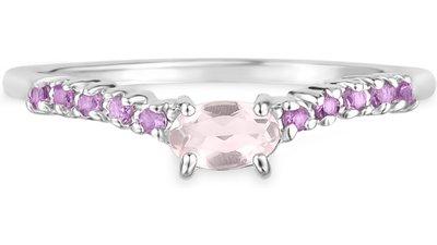 anel life quartzo rosa ametista