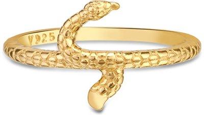 anel life enigma serpente banho ouro amarelo