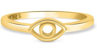 anel life olho grego banho ouro amarelo