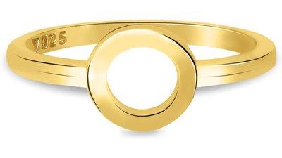 anel life círculo banho ouro amarelo