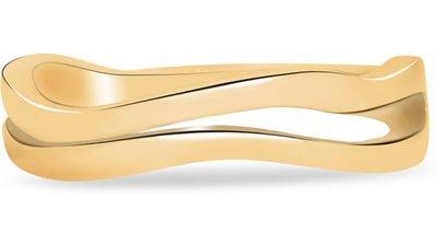 anel life ondas duplo banho ouro amarelo