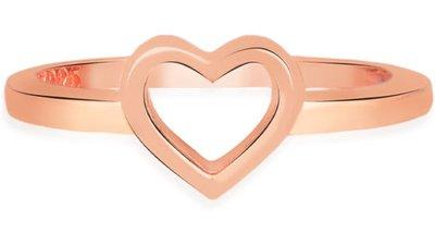 anel life coração banho ouro rosé