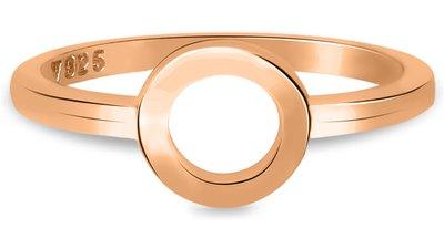 anel life círculo banho ouro rosé