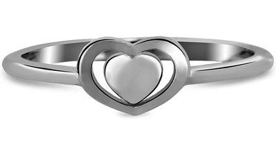 anel life corações banho ródio negro