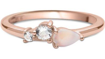 anel life rosé pedra lua topázios menor