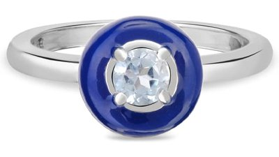 anel life encanto prata topázio azul