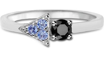 anel life blue quartzo negro