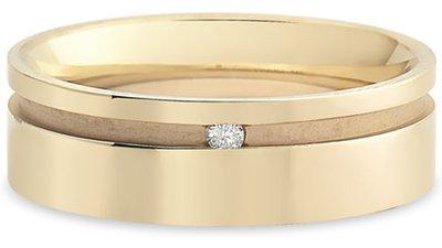 aliança casamento ouro champanhe diamante 6mm