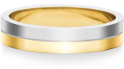 aliança casamento ouro branco amarelo dual 4mm