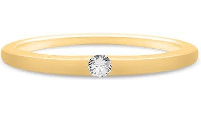 solitário ouro amarelo 5 pontos diamantes