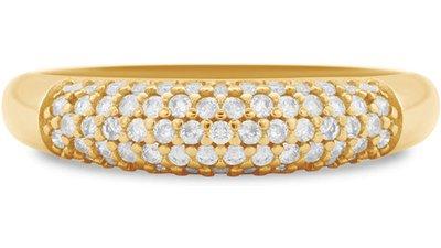 anel ouro amarelo diamantes