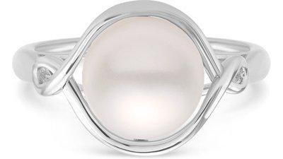 anel prata pérola