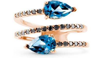 anel ouro rosé topázio london diamantes