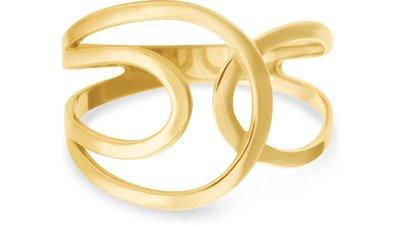 anel gota dupla ouro amarelo
