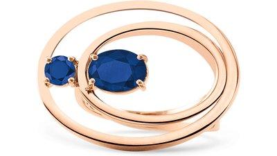 anel ouro rosé e safiras