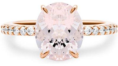 anel ouro rosé vivara diamantes morganita