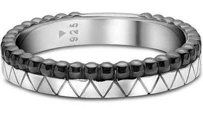 anel prata ródio negro